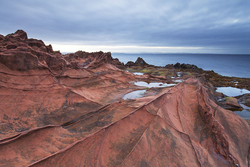 Sandstone rocks, Isle of Arran, Scotland