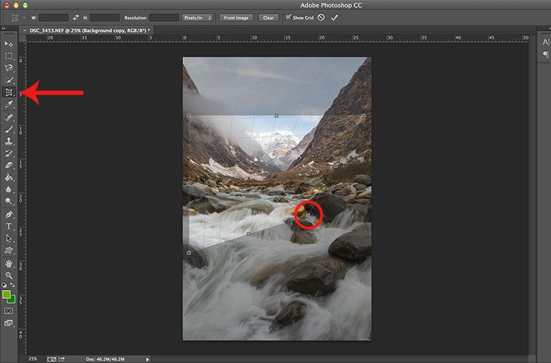 Photoshop Perspective Crop