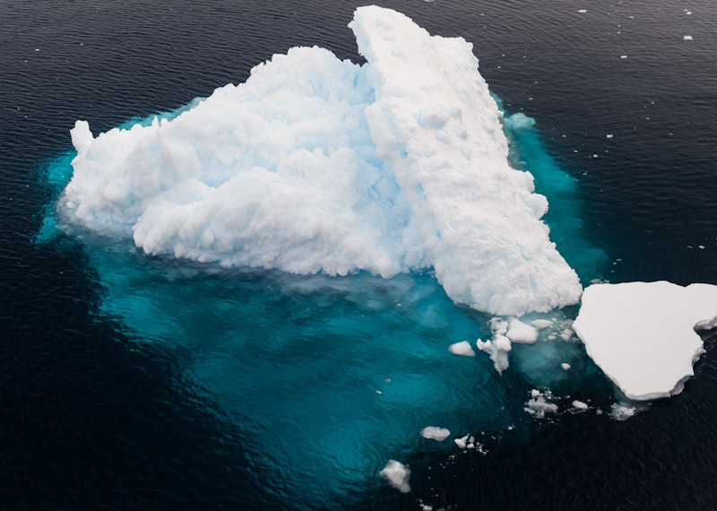 Polarising filters help to bring out the ice hidden below the surface.