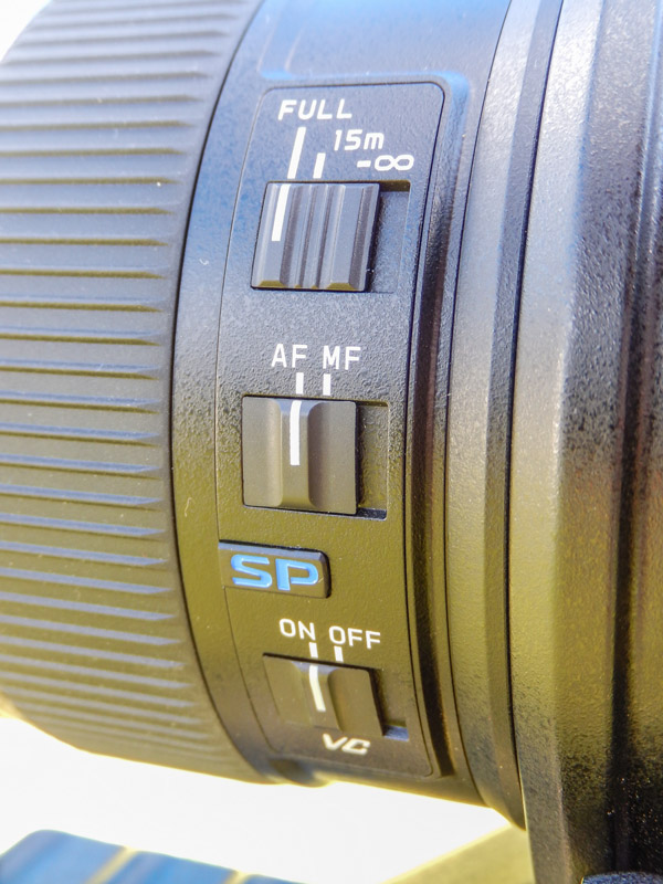 tamron 150-600mm buttons