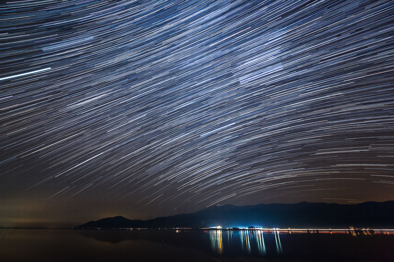 photographing star trails
