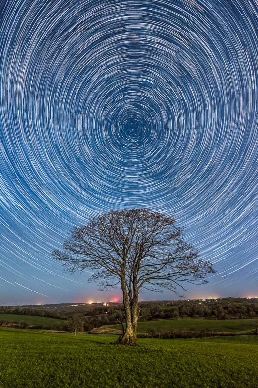 star trails polaris