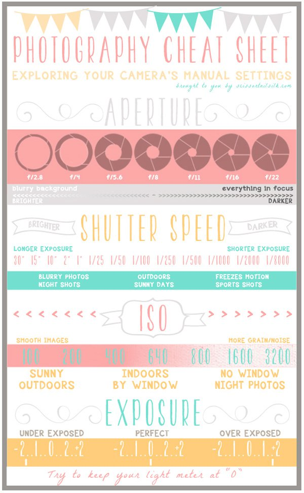 12 of the Best Cheat Sheets & Infographics for Photographers