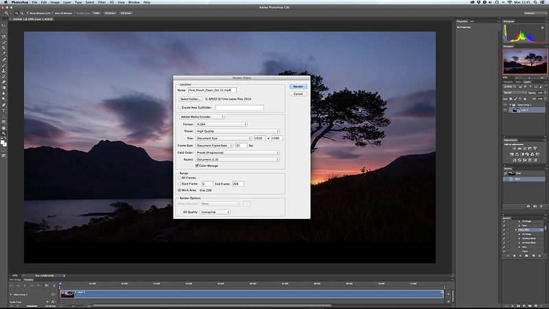create a time-lapse in photoshop