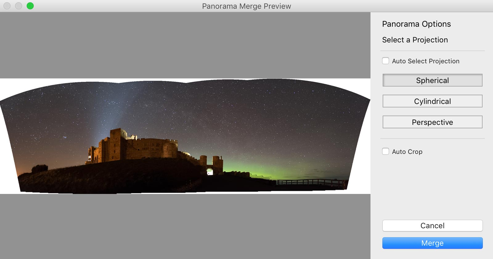how to merge a photo in lightroom