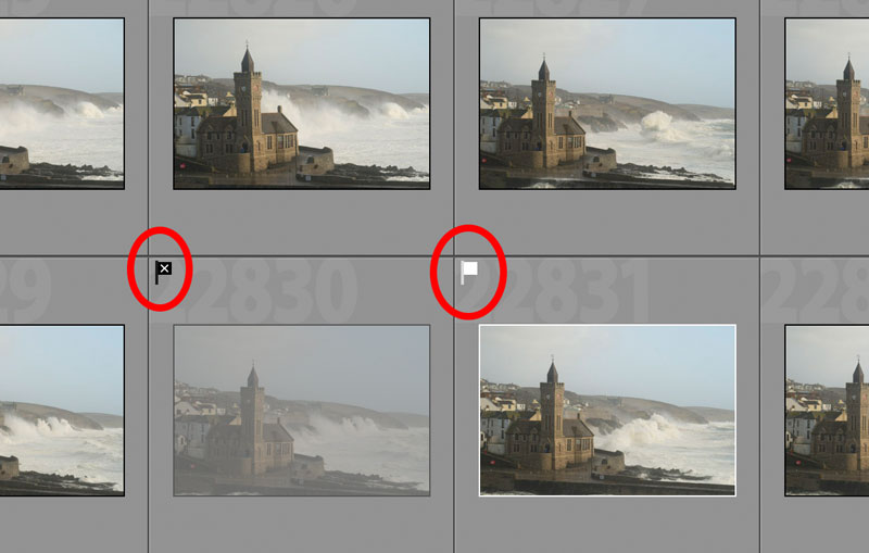 how to flag photos in lightroom