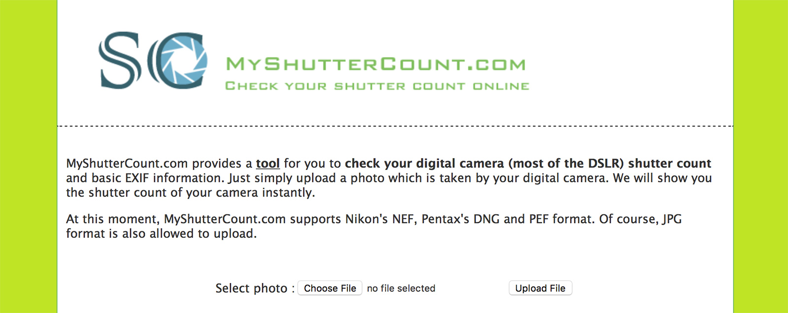 How to Find Your Camera's Shutter Actuation Count | Nature TTL