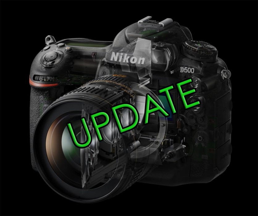 New Firmware Update for Nikon D500 and D3400 | Nature TTL