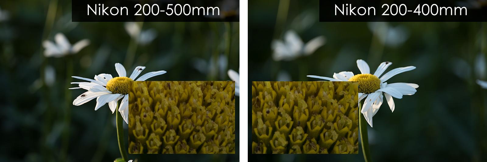 comparison nikon 200-500mm and nikon 200-400mm