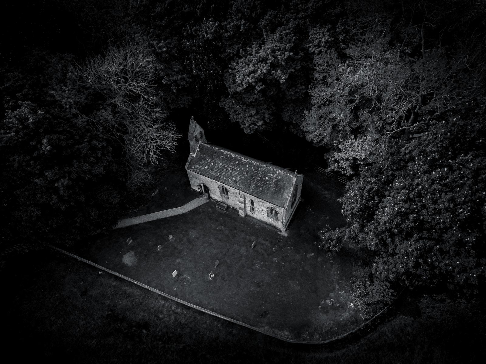 I processed this image to give a foreboding atmosphere.