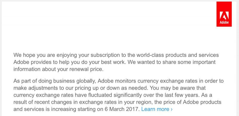 Adobe's UK Subscription Prices Skyrocket by Up to 60