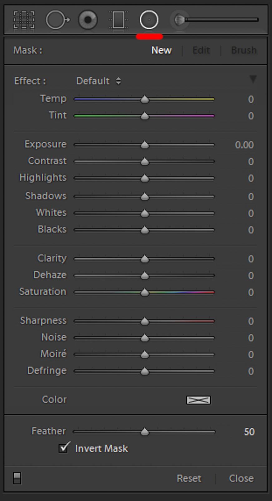 lightroom gradient radial filter