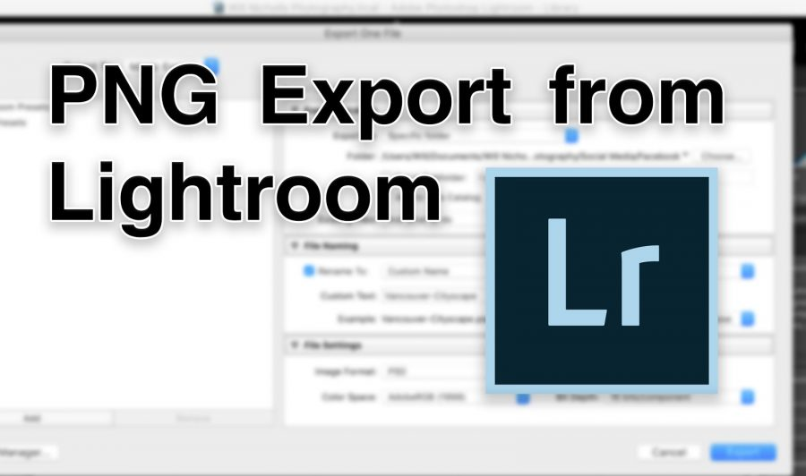 lightroom png export