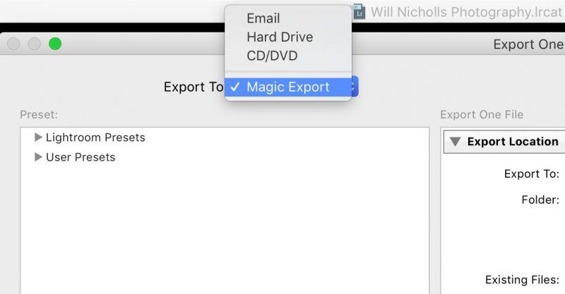 export png files from lightroom