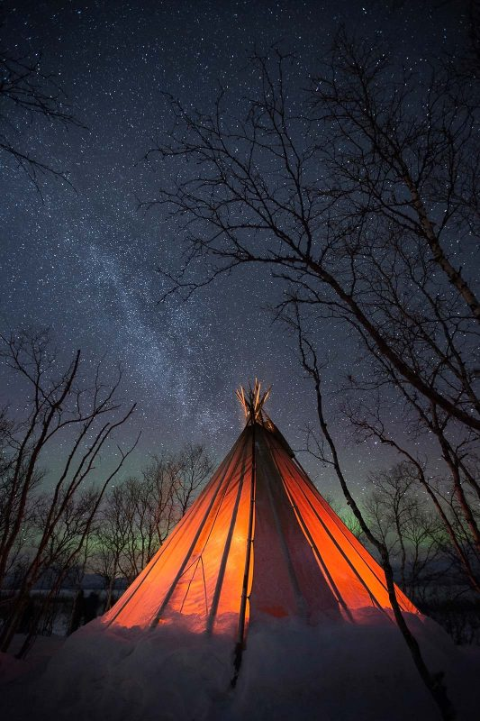 tent with stars