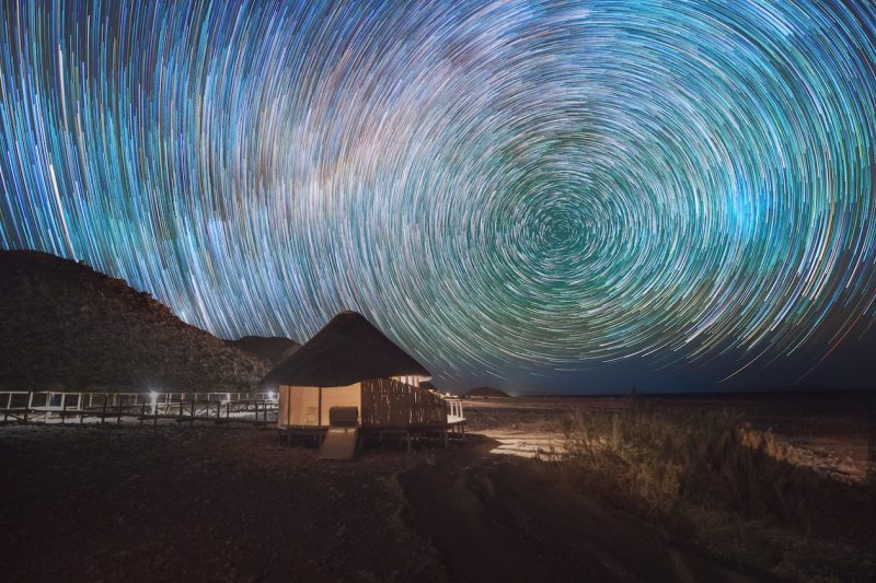 Witness Mesmerising Star Trails Over the Namib Desert