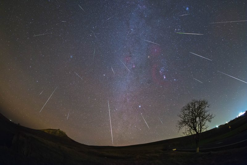 Composite image of Geminids