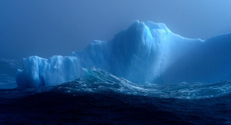 Iceberg in a stormy sea