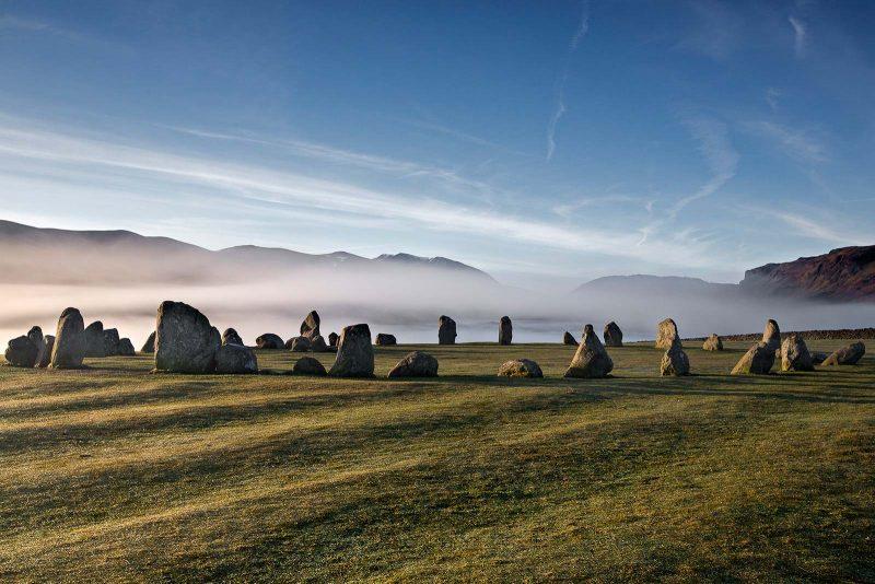 Mist behind Castlerigg Stone Circle