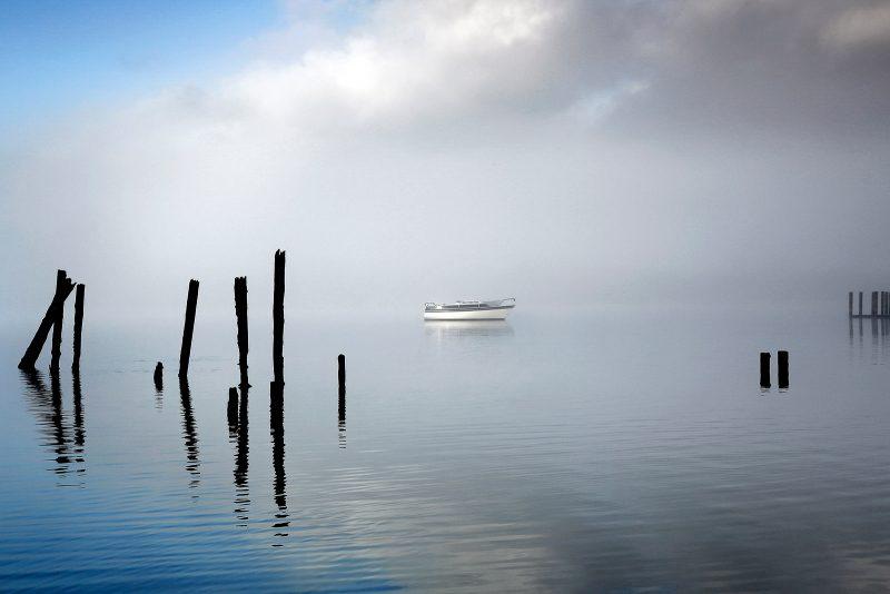 Derwentwater with mist