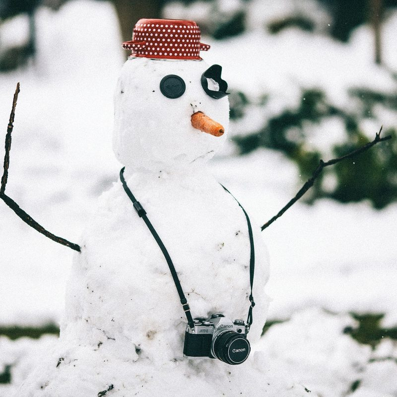 snowman winter photographer