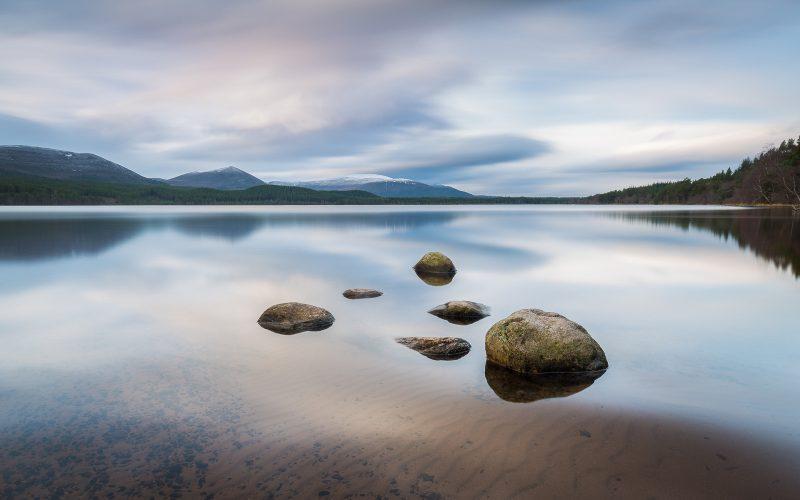 Loch Morlich Landscape Scotland