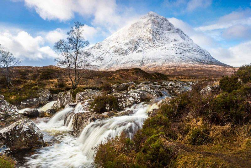 Etive Mor Waterfall landscape, Scotland