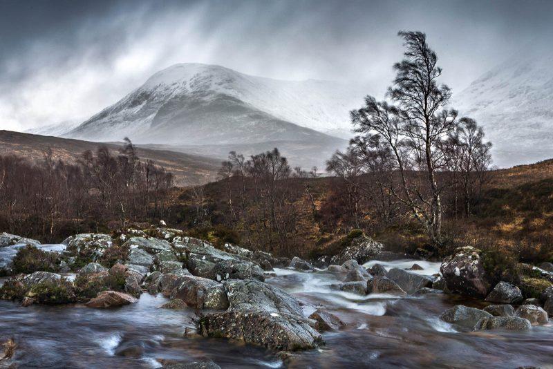 River Etive landscape in Scotland