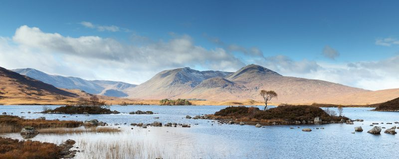 Rannoch Moor panoramic landscape, Scotland