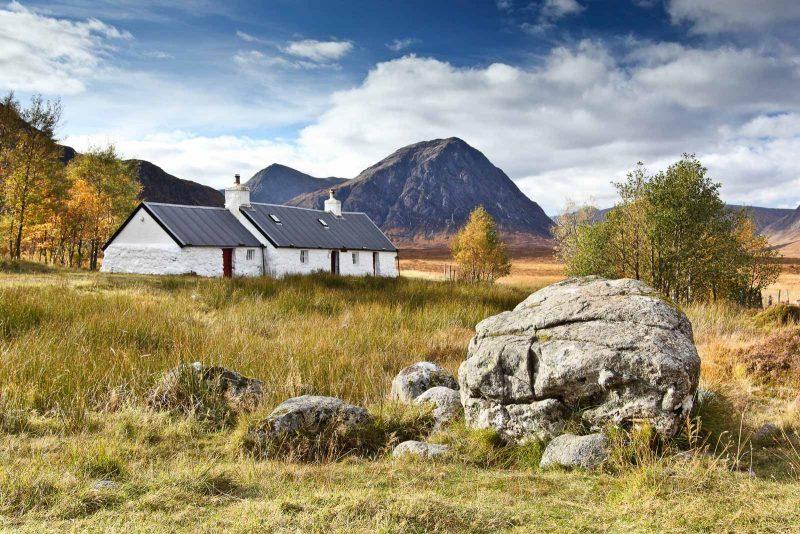 Blackrock Cottage landscape, Scotland