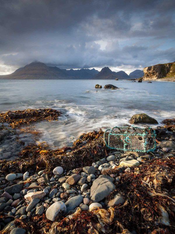 Elgol Waves landscape, Scotland
