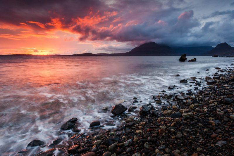 Elgol sea landscape at Sunset, Scotland