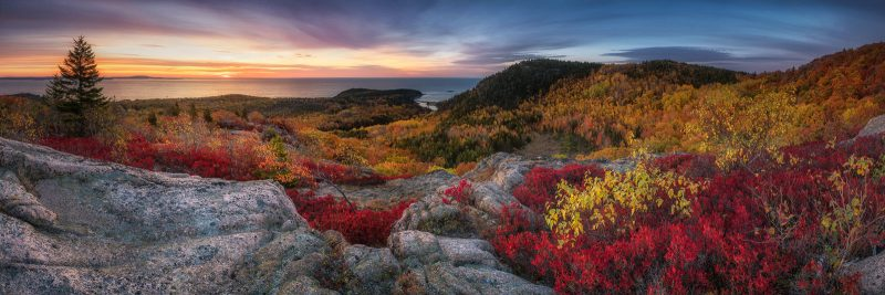 Enoch sunrise panorama landscape