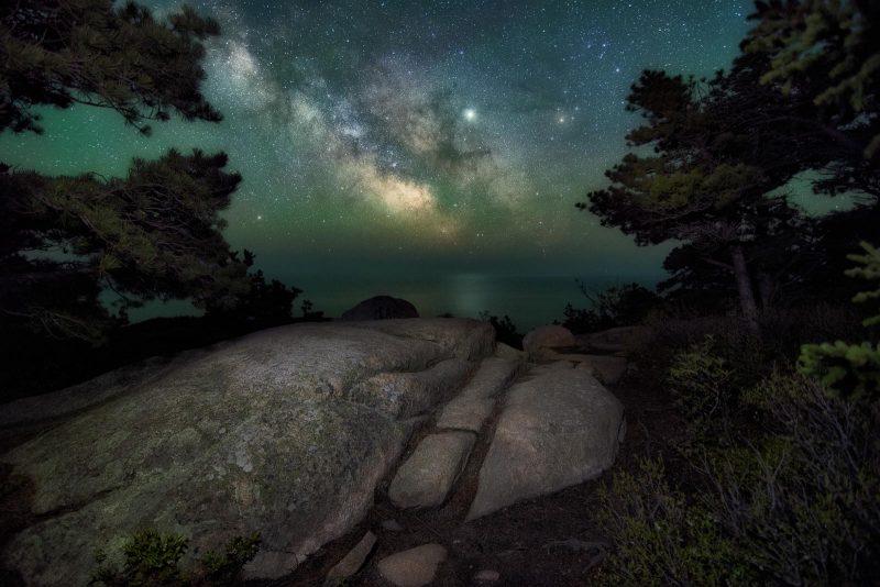Milkyway landscape of Arcadia national park