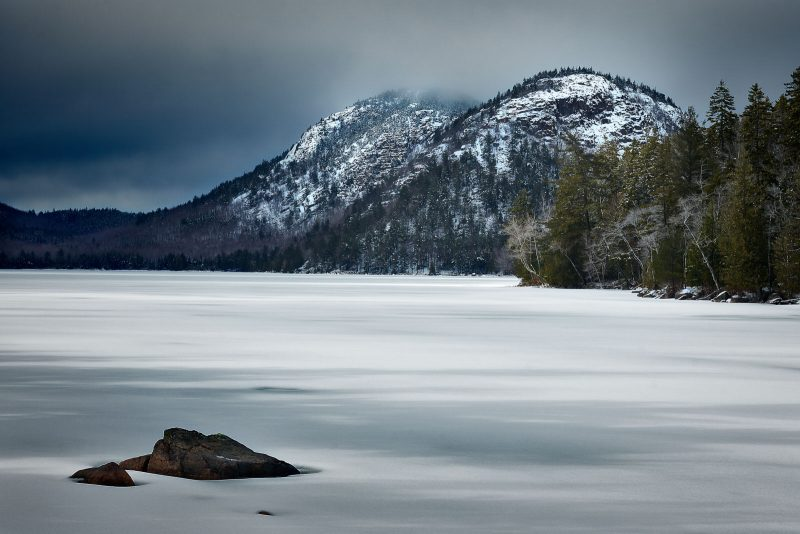 Jordan Pond winter scene