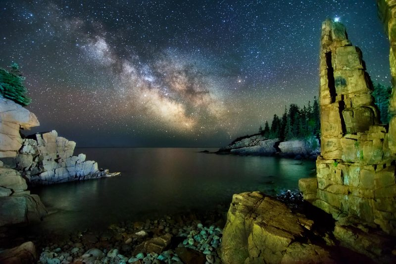 monument cove milky way
