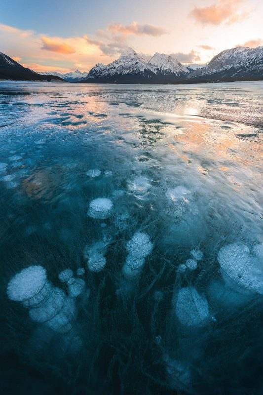 Abraham Lake, one of the best locations for landscape photography in Canada