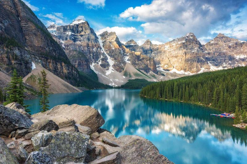 Moraine Lake, one of the best locations for landscape photography in canada