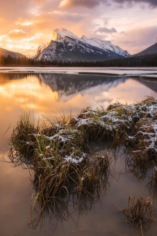 Vermilion Lakes, one of the best locations for landscape photography in Canada
