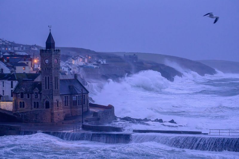 Stormy coastal landscape photo