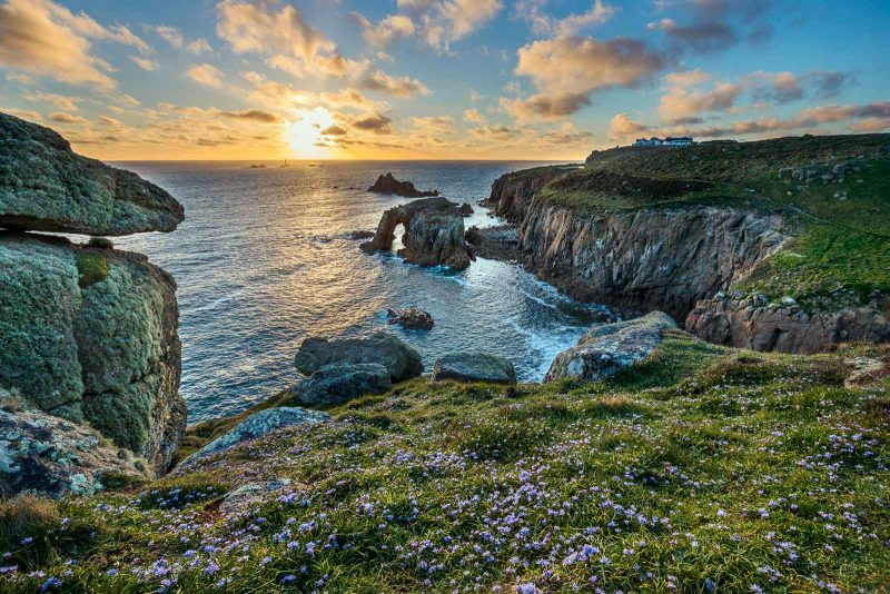 Land's End, Sunset, Cornwall, UK