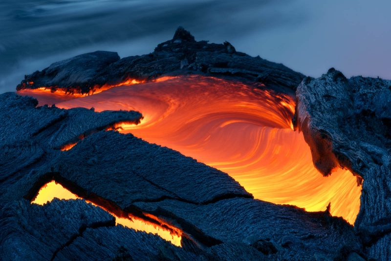 lava and molten rock close up