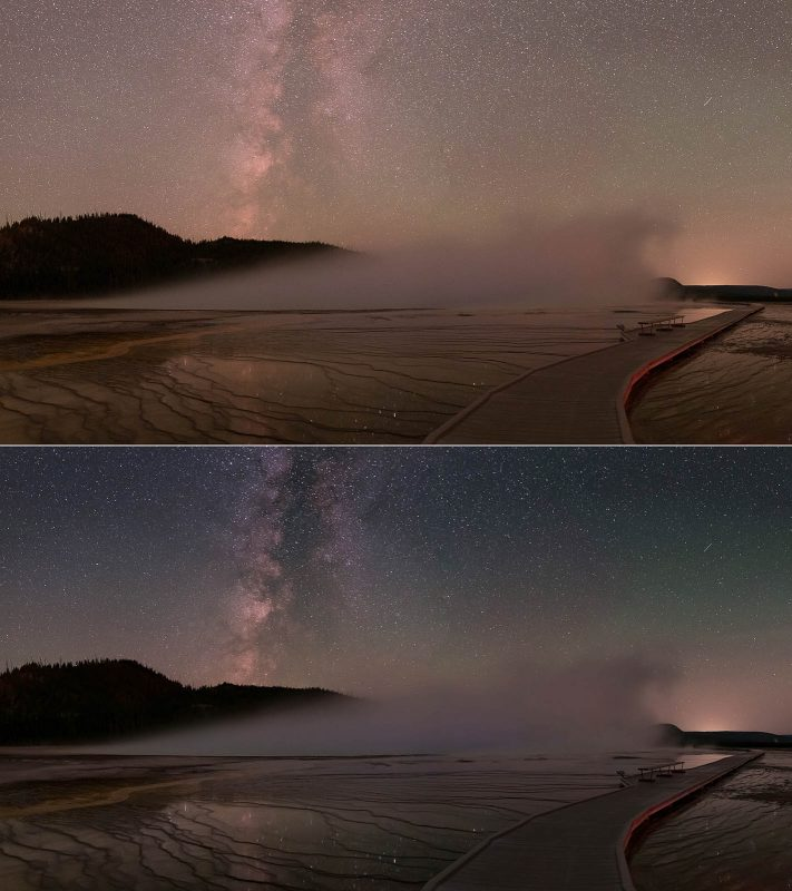 Before and after start sky edit