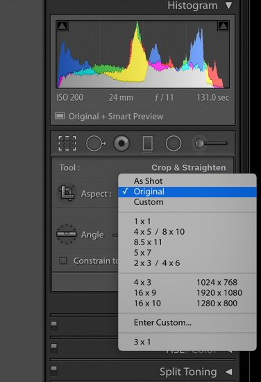 Cropping Tool Lightroom