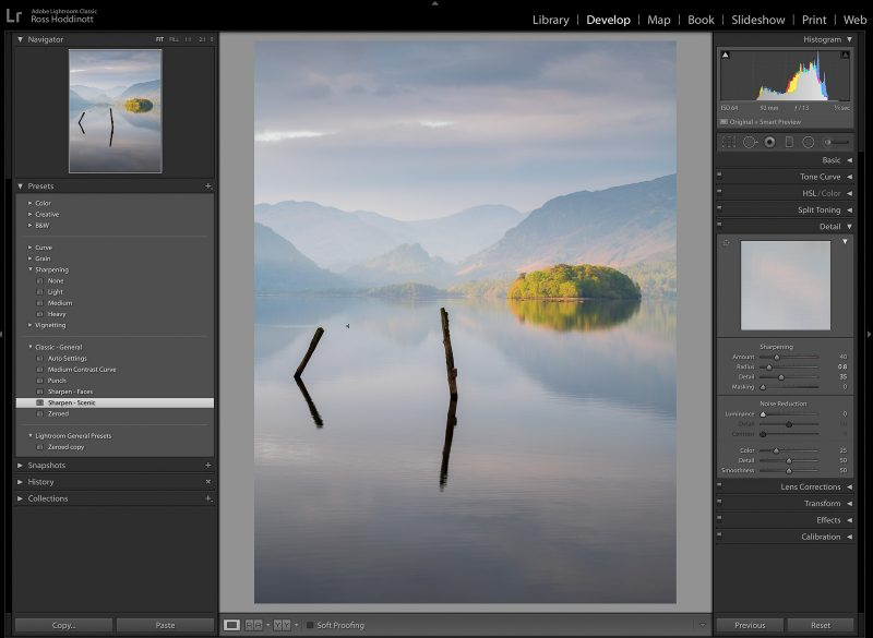 Sharpen Tools Lightroom