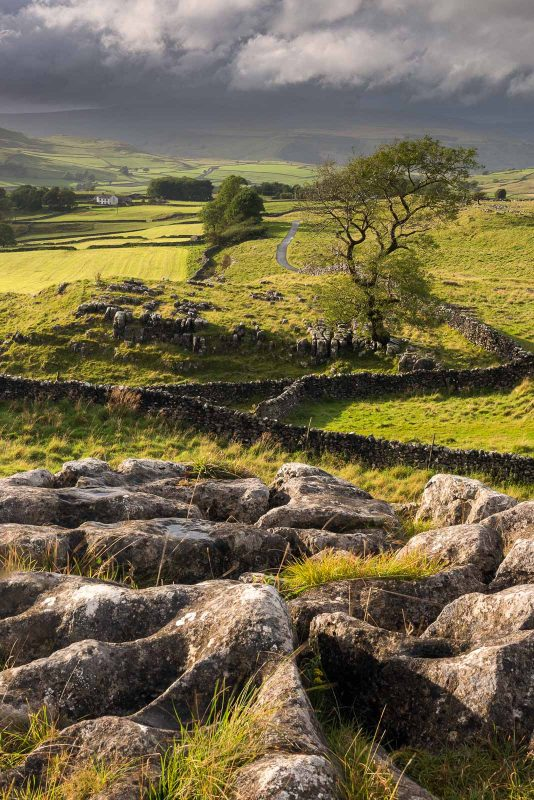 Malham Moor, with stormy skies