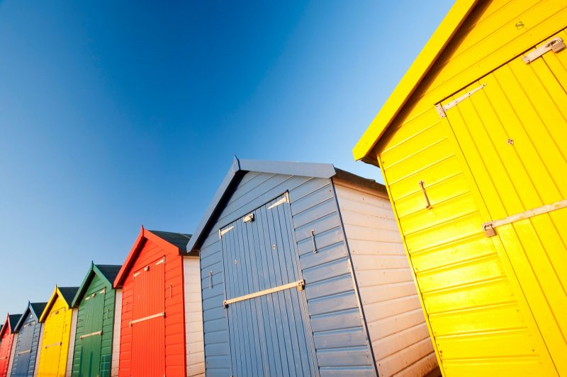 Colourful beach huts, Dawlish Warren
