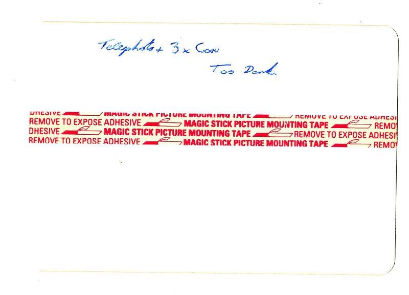 Notes on back of slide film