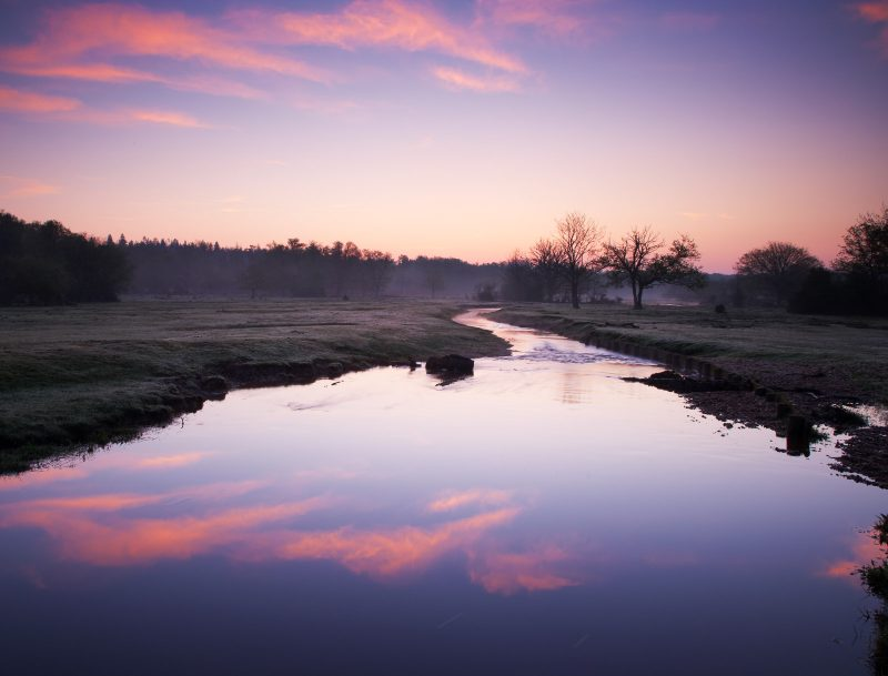 Sunrise reflections at Ober Water