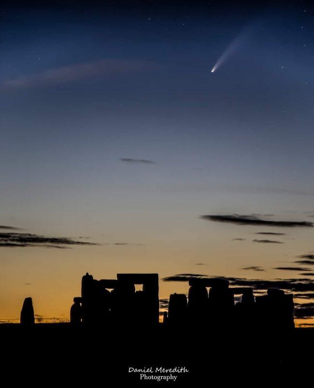 Comet Neowise over Stone Henge